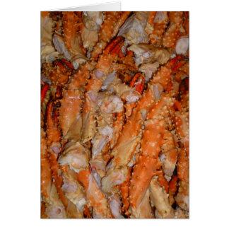 Piernas de Alaska de rey cangrejo Tarjeta De Felicitación