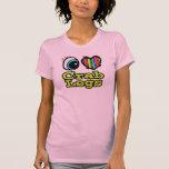 Piernas de cangrejo brillantes del amor del camisetas