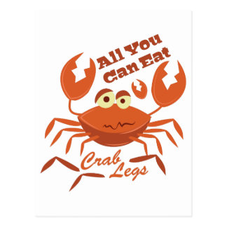 Piernas de cangrejo postales