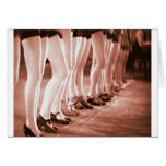 Piernas hermosas del baile del vintage de las muje tarjetón