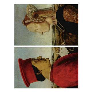 Piero della Francesca Battista Sforza Federico DA Tarjetas Postales