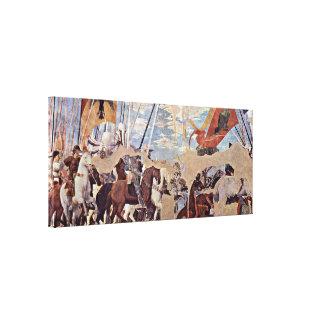 Piero della Francesca - Battle of Milvian Bridge Gallery Wrap Canvas