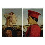 Piero della Francesca - díptica Poster