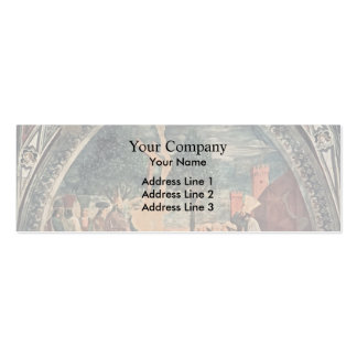 Piero della Francesca- Exaltation of the Cross Double-Sided Mini Business Cards (Pack Of 20)