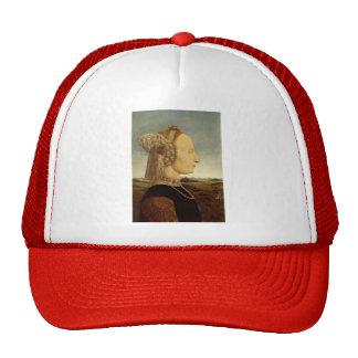 Piero della Francesca- Portrait of Battista Sforza Trucker Hats