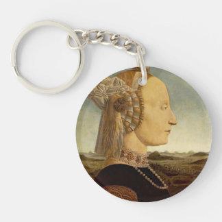 Piero della Francesca- Portrait of Battista Sforza Single-Sided Round Acrylic Keychain