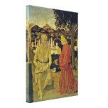 Piero della Francesca - St Jerome y un fundador Lienzo Envuelto Para Galerias