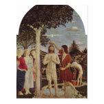 Piero della Francesca Taufe Christi um c 1440-1450 Tarjetas Postales