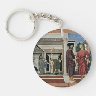 Piero della Francesca- The Flagellation of Christ Single-Sided Round Acrylic Keychain