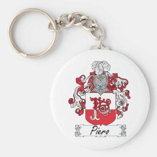 Piero Family Crest Basic Round Button Keychain