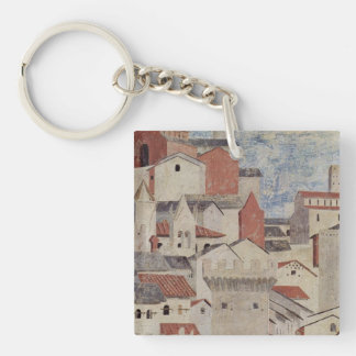 Piero Francesca Art Single-Sided Square Acrylic Keychain