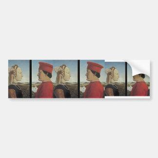 Piero Francesca- Portraits Federico da Montefeltro Bumper Sticker