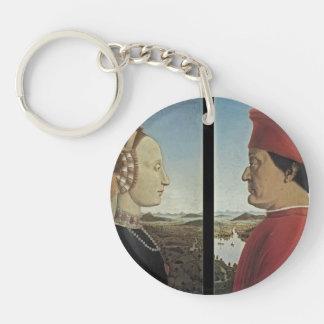 Piero Francesca- Portraits Federico da Montefeltro Single-Sided Round Acrylic Keychain