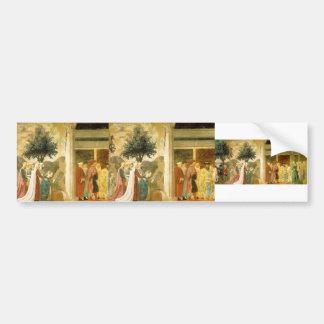 Piero Francesca- Procession of the Queen of Sheba Bumper Sticker