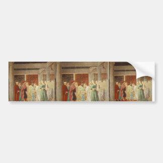 Piero Francesca: Queen Sheba Meeting King Solomon Bumper Sticker