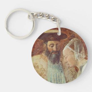 Piero Francesca: Queen Sheba Meeting King Solomon Single-Sided Round Acrylic Keychain