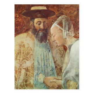 Piero Francesca: Queen Sheba Meeting King Solomon Postcard