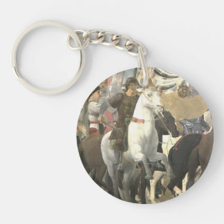 Piero Francesca- Victory of Constantine Single-Sided Round Acrylic Keychain