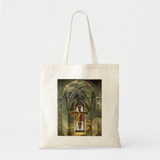 Piero Francesca- View of the Cappella Maggiore Tote Bags