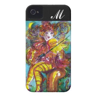 PIERO/monograma veneciano de la noche del carnaval iPhone 4 Case-Mate Protectores
