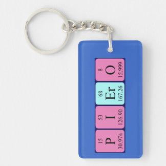 Piero periodic table name keyring Single-Sided rectangular acrylic keychain
