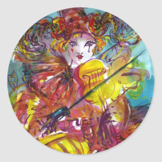 PIERO / Venetian Carnival Night Classic Round Sticker