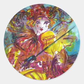PIERO / Venetian Carnival Night Classic Round Sticker