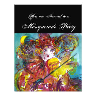 "PIERO / Venetian Carnival Night 8.5"" X 11"" Flyer"