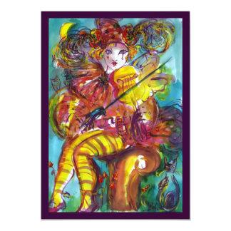 PIERO / Venetian Carnival Night 5x7 Paper Invitation Card