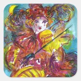 PIERO / Venetian Carnival Night Square Sticker