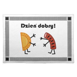 Pierogi & Kielbasa - Dzien Dobry! Cloth Placemat