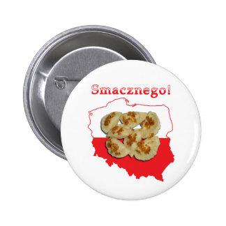 Pierogi Smacznego Polish Map Pinback Buttons