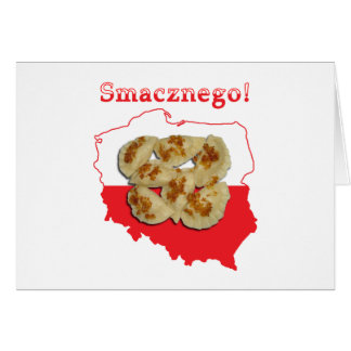 Pierogi Smacznego Polish Map Card