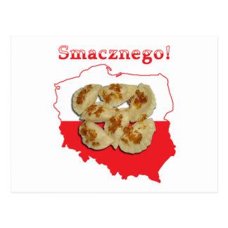 Pierogi Smacznego Polish Map Postcard