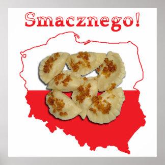 Pierogi Smacznego Polish Map Poster