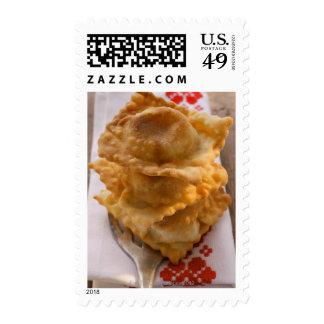 Pierogi with mince and sauerkraut filling stamp