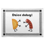¡Pierogi y Kielbasa - Dzien Dobry! Mantel