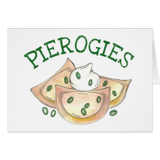 Pierogies Polish Cuisine Potato Dumplings Foodie Card