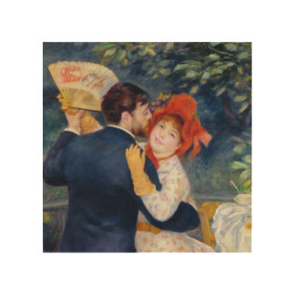 Pierre A Renoir | A Dance in the Country Wood Wall Art