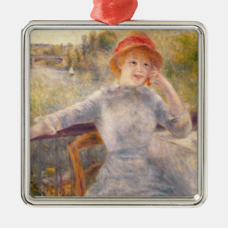 Pierre A Renoir | A. Fournaise at The Grenouillere Metal Ornament