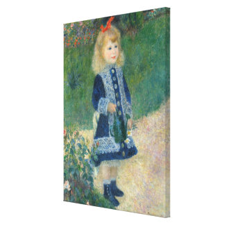 Pierre A Renoir | A Girl with a Watering Can Canvas Print