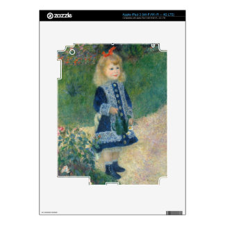 Pierre A Renoir | A Girl with a Watering Can Skin For iPad 3