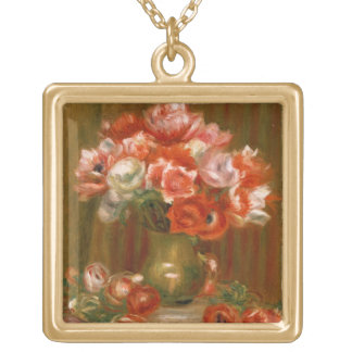 Pierre A Renoir | Anemones Gold Plated Necklace