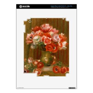 Pierre A Renoir | Anemones iPad 3 Decals