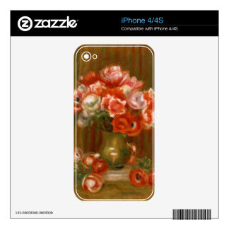 Pierre A Renoir | Anemones Skin For iPhone 4S