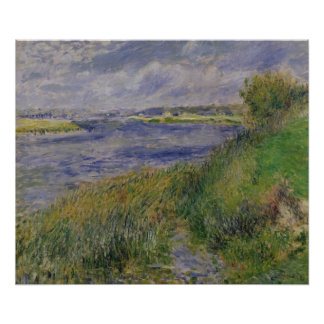 Pierre A Renoir | Banks of the Seine, Champrosay Poster