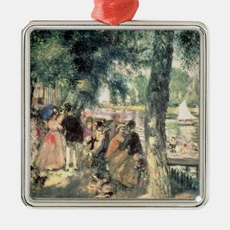 Pierre A Renoir | Bathing on the Seine  Metal Ornament
