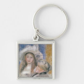 Pierre A Renoir | Berthe Morisot and her Daughter Keychain