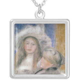 Pierre A Renoir | Berthe Morisot and her Daughter Silver Plated Necklace