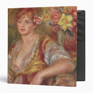 Pierre A Renoir | Blonde Woman with a Rose Binder